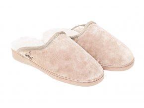 Kožešinové pantofle PRIMA natur