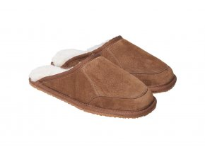 Kožešinové pantofle CALDO oříšek