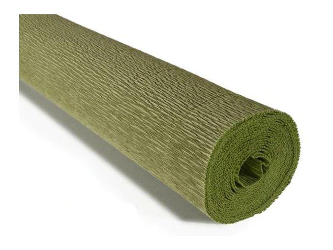 Krepový papír role 180g (50 x 250cm) - hráškově zelená 562