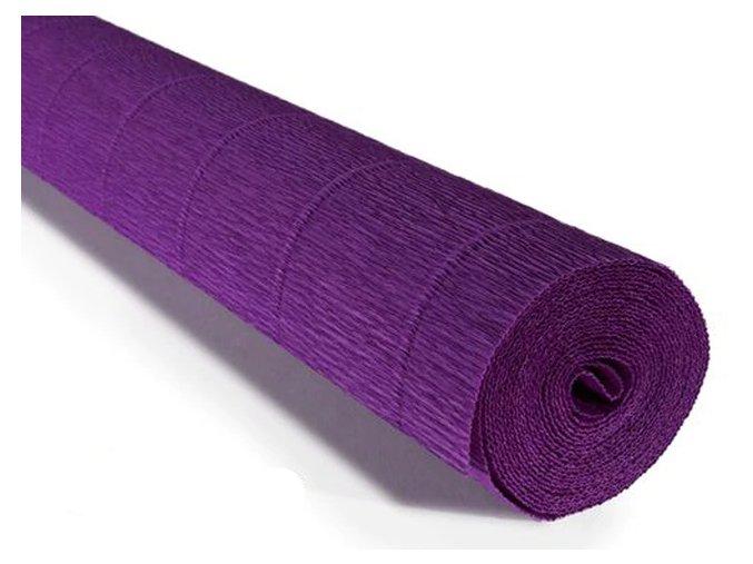 Krepový papír role 180g (50 x 250cm) - tmavě fialová 593