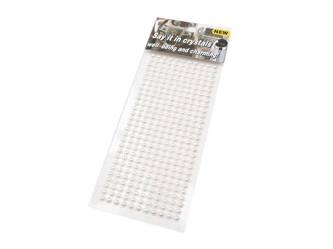 Samolepicí perly na lepicím proužku 4mm