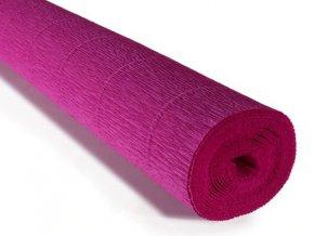 Krepový papír role 180g (50 x 250cm) - cyklámenová 572
