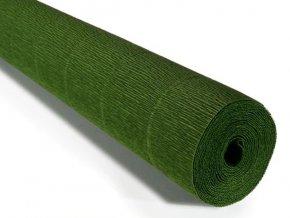 Krepový papír role 180g (50 x 250cm) - listově zelená 591