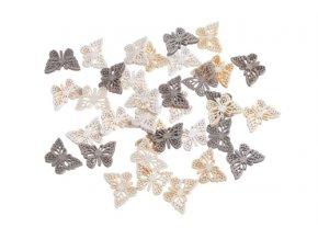 dřevění motýli 36ks