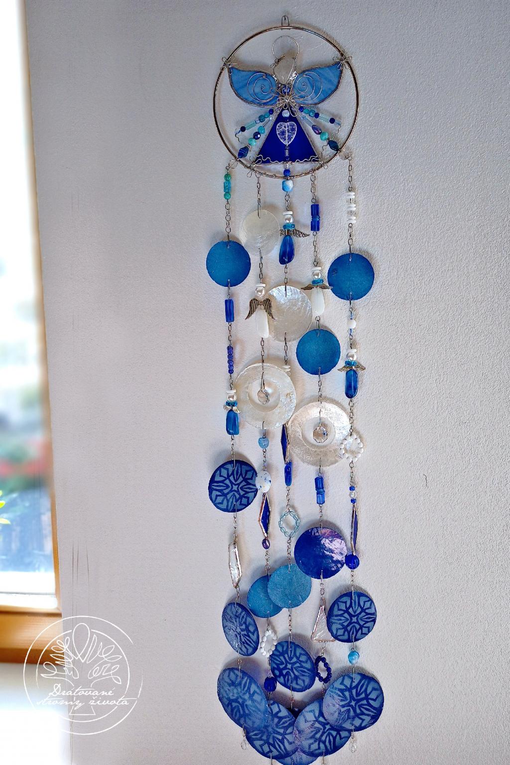 Andělská zvonkohra Tiffany Nepotlačuj své Emocec 50cm