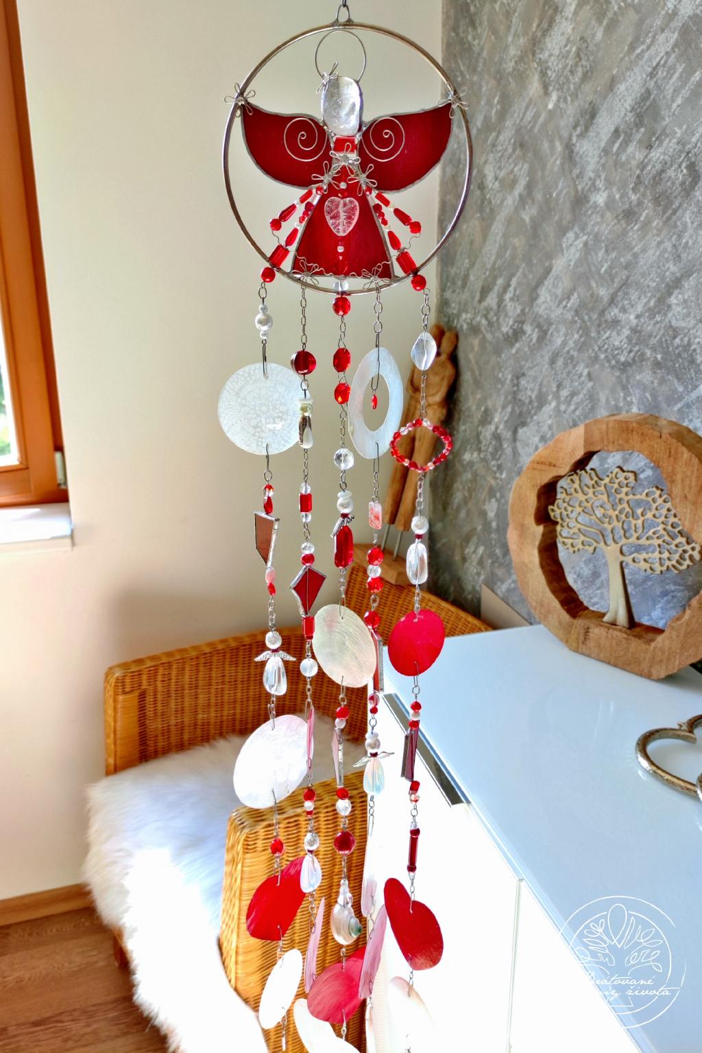 Andělská zvonkohra Tiffany Života budič 50cm