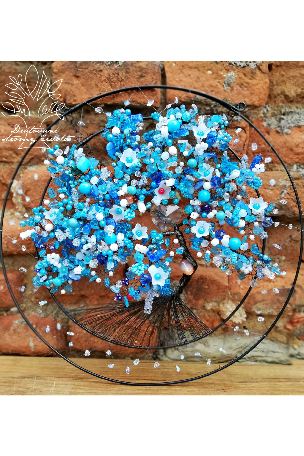 Drátovaný strom - Splň si svá přání 40cm