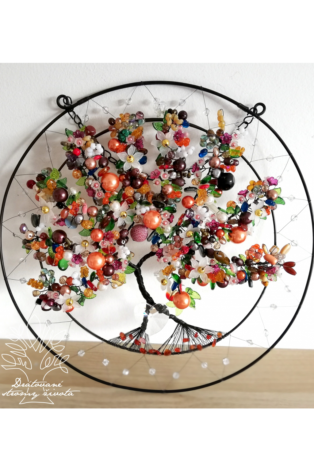 Drátovaný strom - Bohatství a berevnost života 35cm