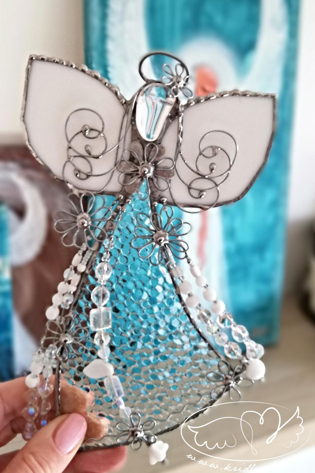 Andělská vitráž - Křišťálový léčitel 20cm