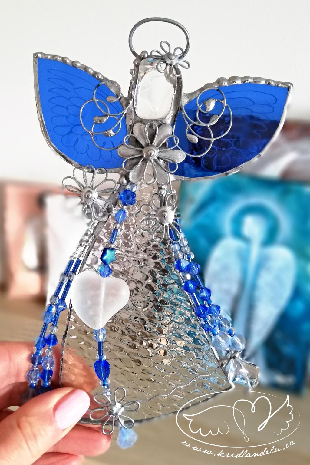 Andělská vitráž - Nepotlačuj své emoce 19cm