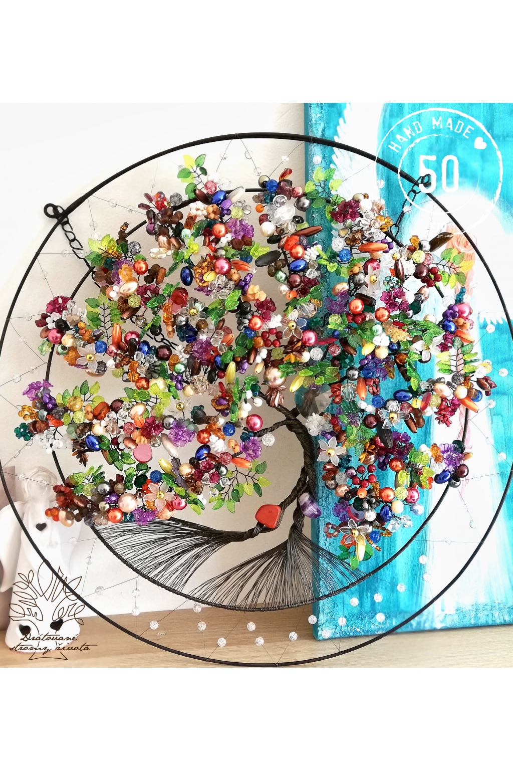 Drátovaný strom - Zdraví, radost a láska 50cm