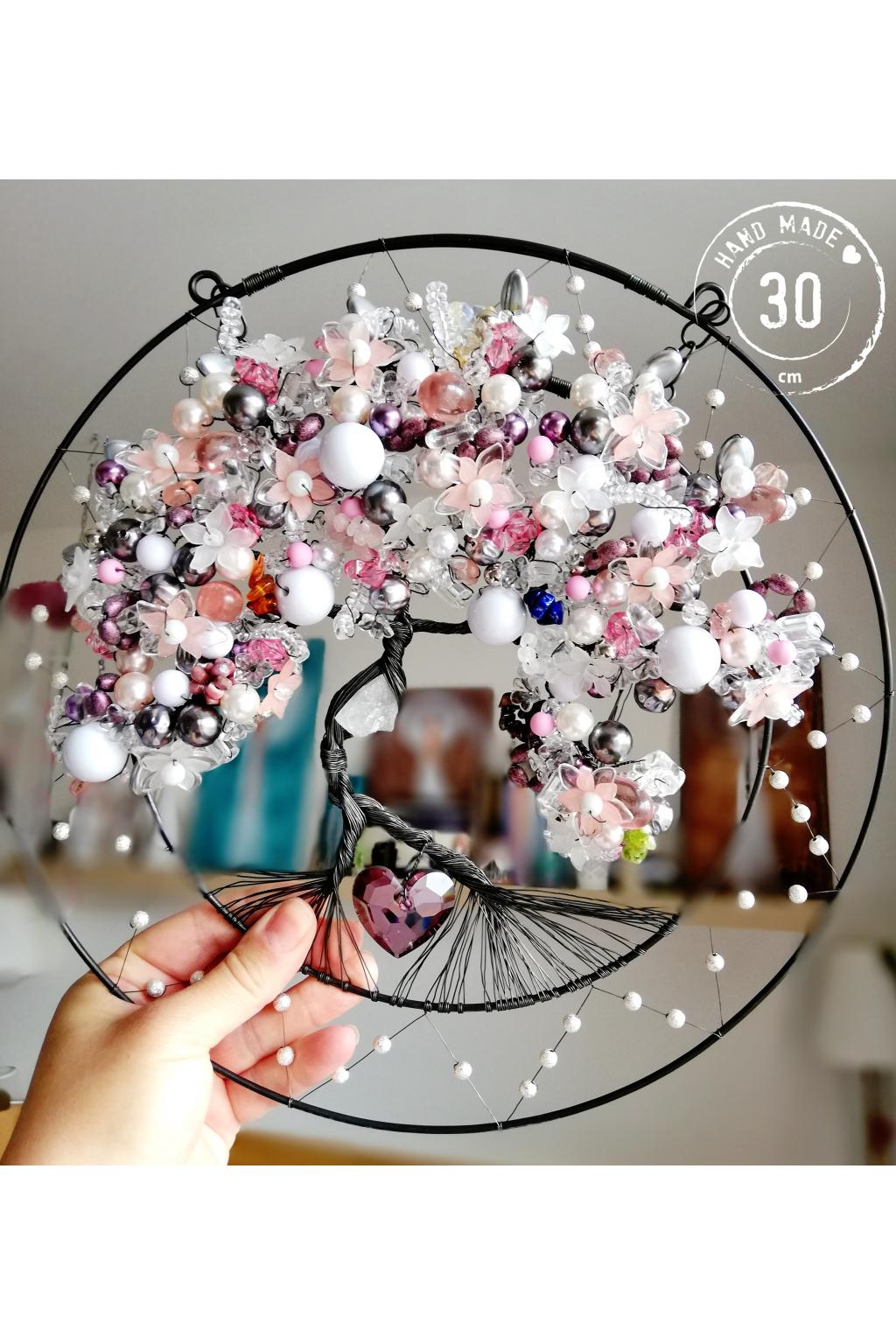 Drátovaný strom Krása tvého srdce 30cm