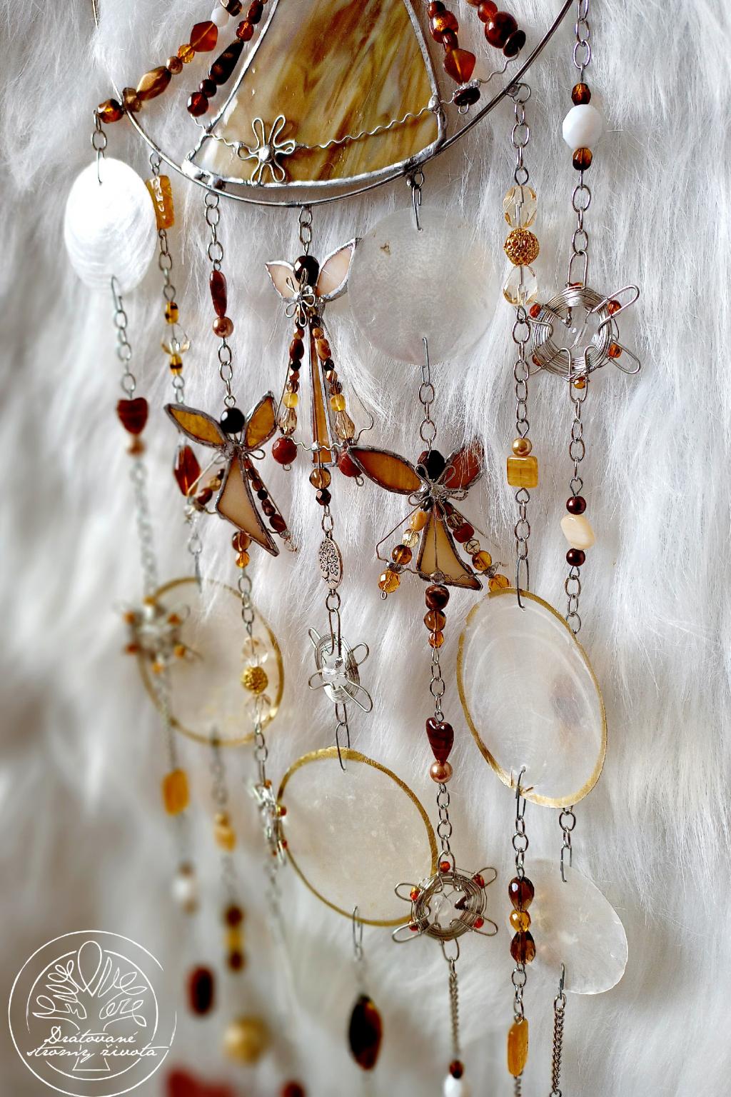 Andělská zvonkohra Tiffany Jdi vlastní cestou 20x57cm