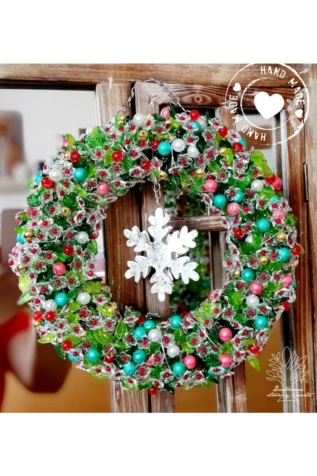 Věnec Vánoční LED - Duch vánoc 23cm