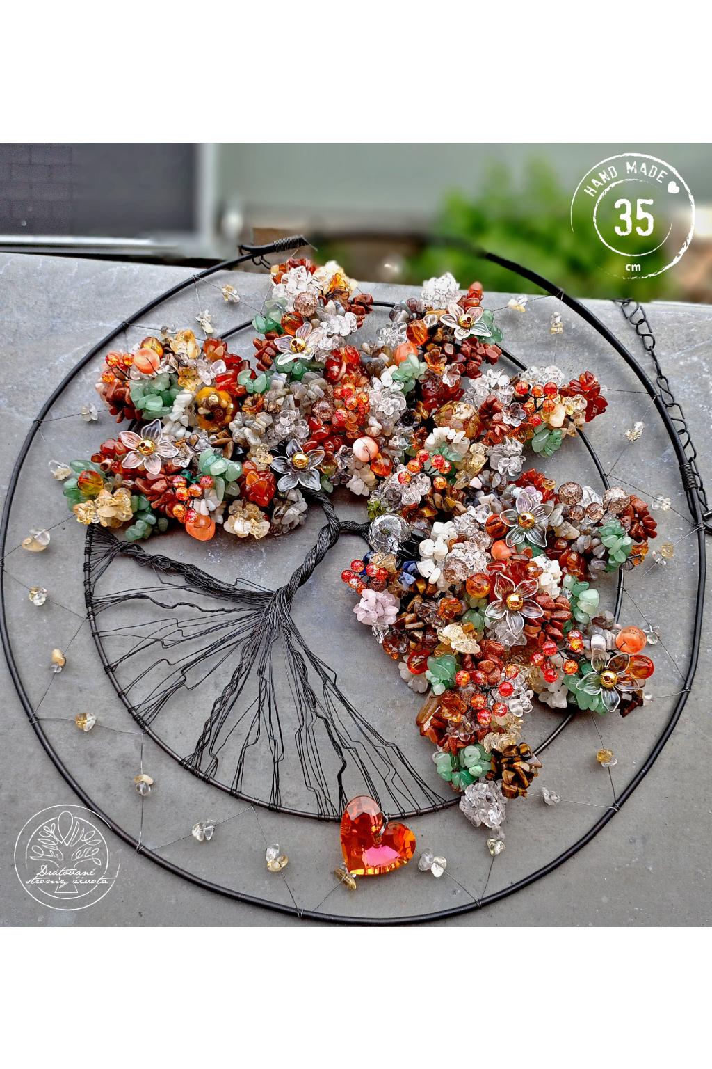 Strom života Polodrahokamy Otevírám srdce v radosti  35cm