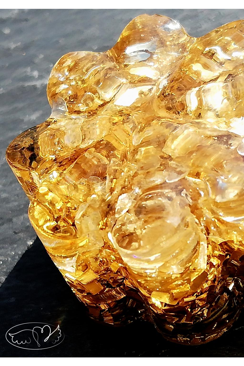 Orgonitová kytička - sluneční paprsky s cítrínem 2,5cm