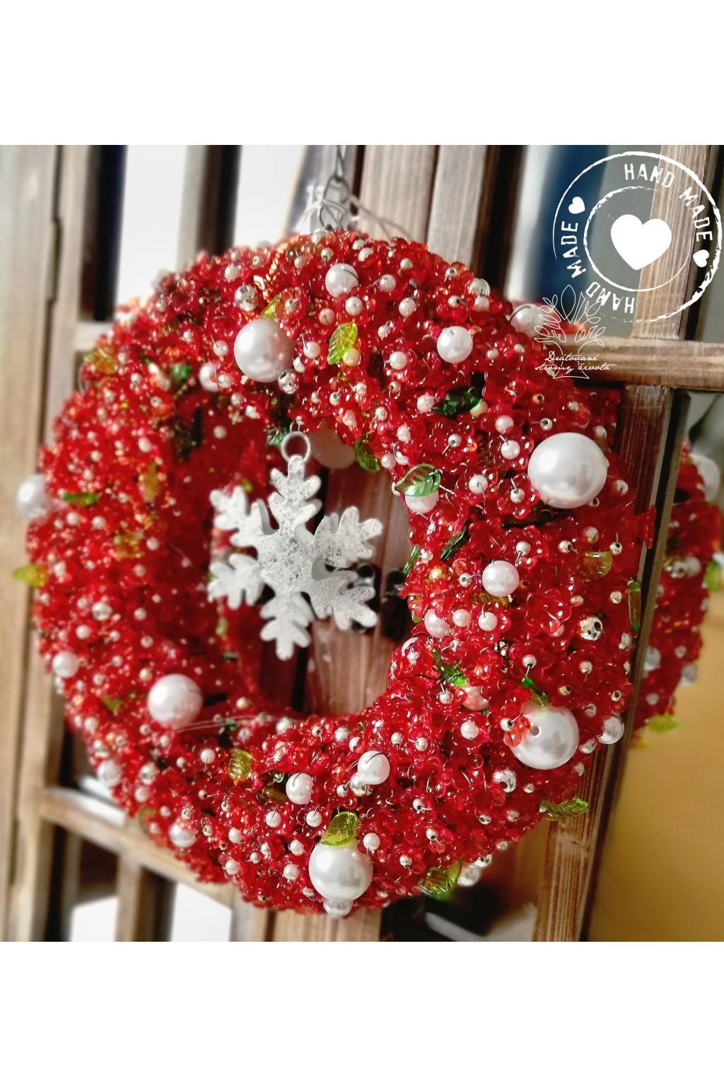 Věnec Vánoční LED - Teplo vánoc 23cm