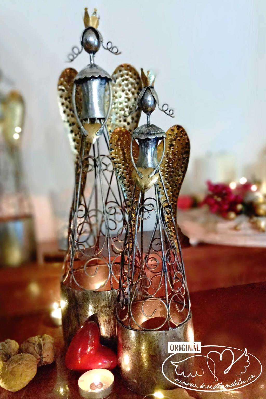 Andělský vánoční svícen 35cm