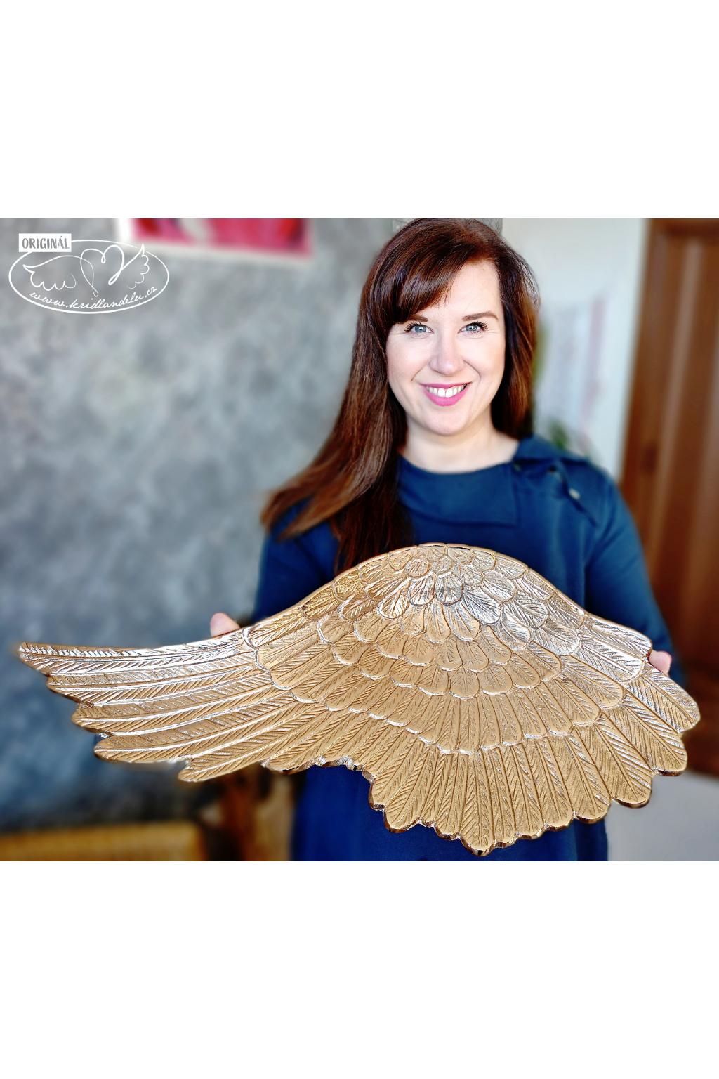 Zlaté andělské křídlo 1ks 53cm