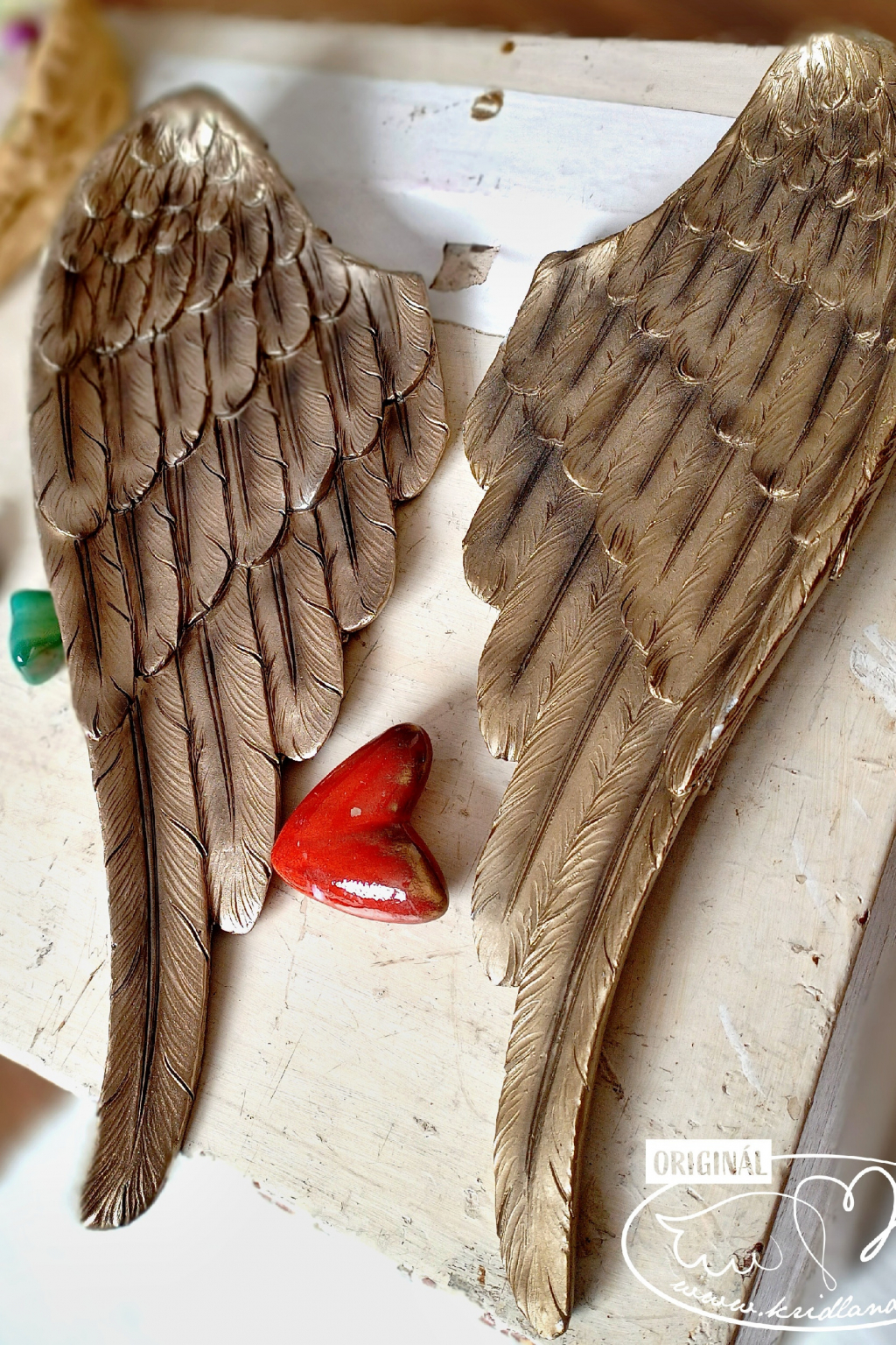 Andělská křídla  - 2ks Zlatá záře andělů 41cm
