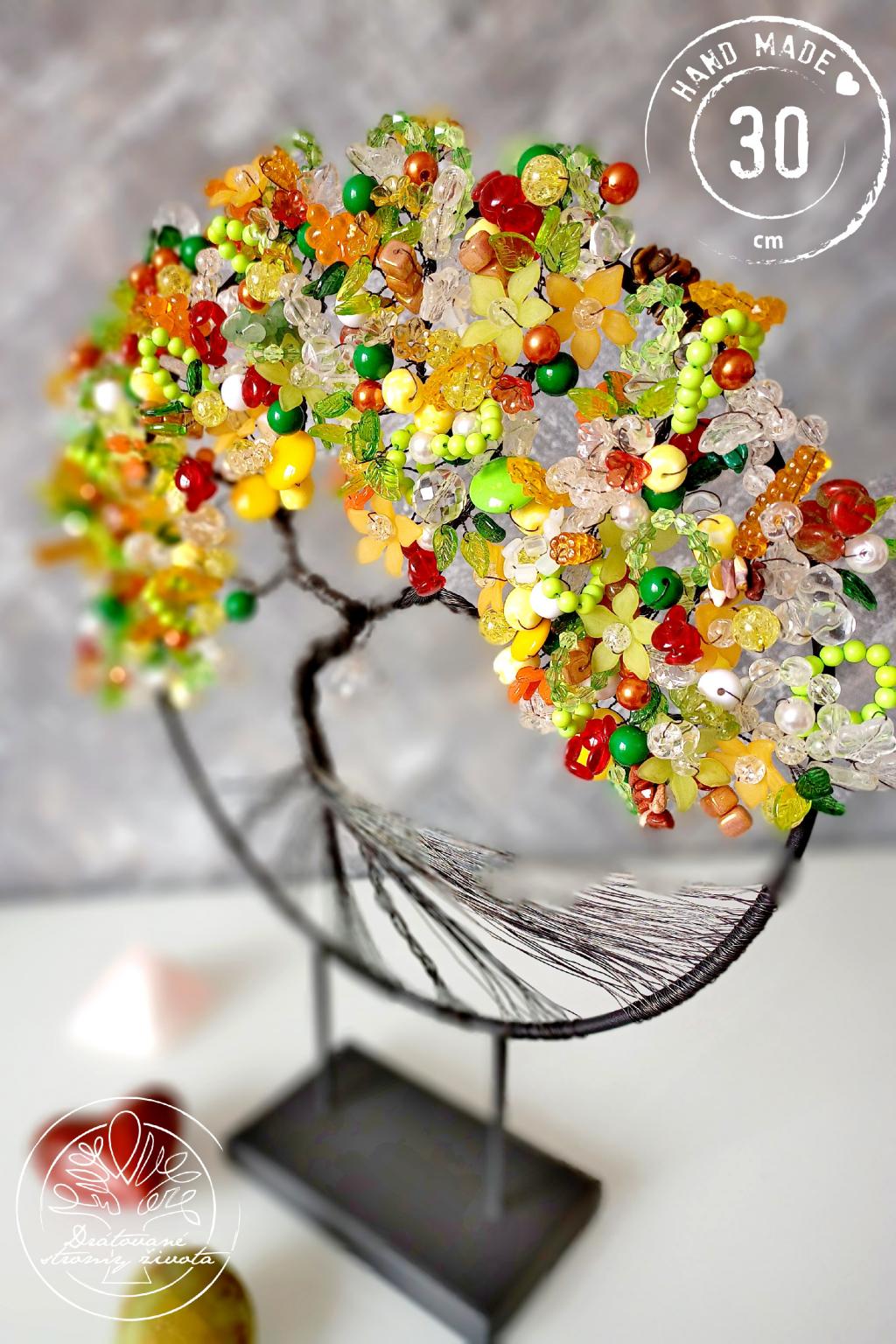 Strom života na stojánku - Radost  v každé podobě 30x40cm
