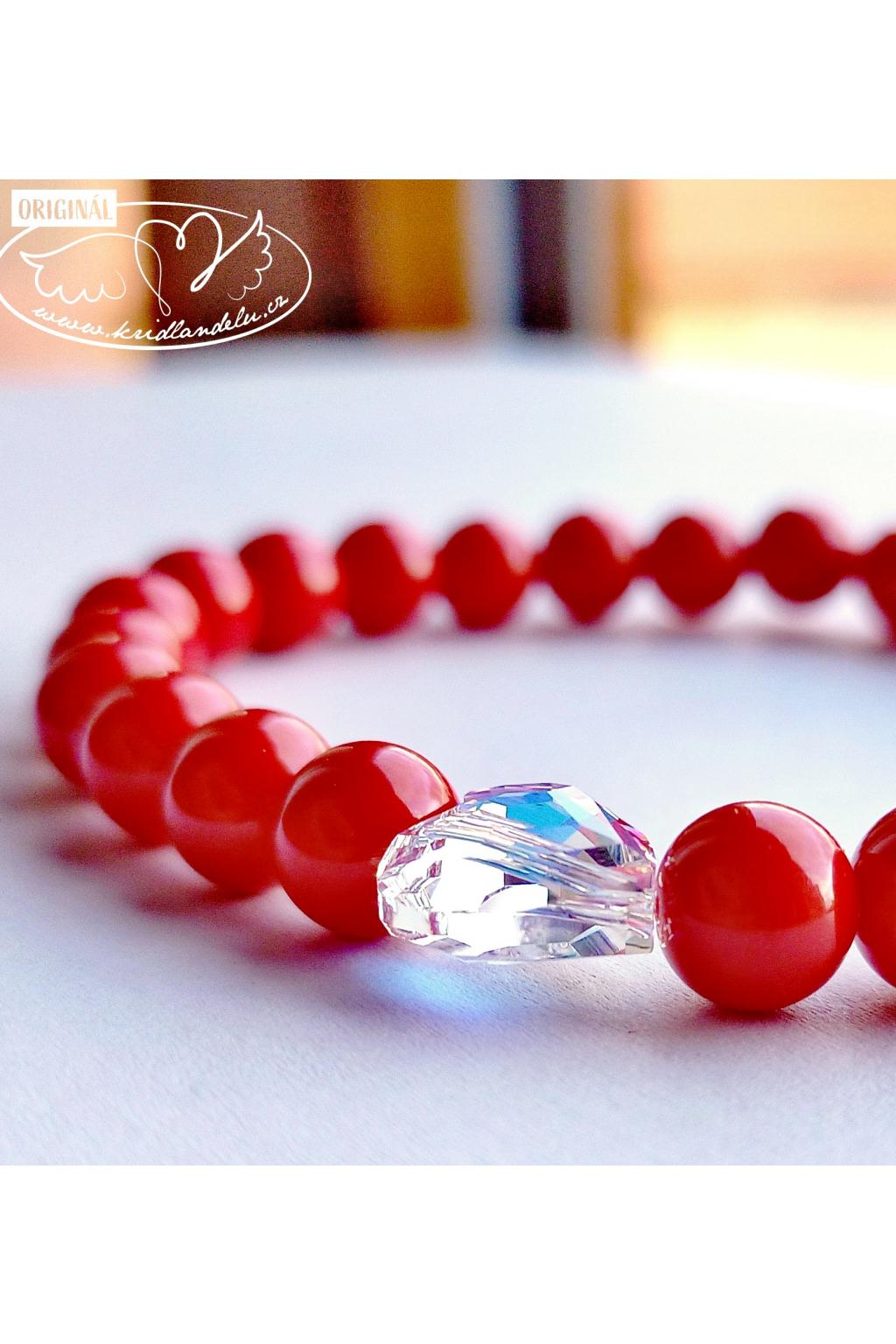 Náramek energetický -  Červený korál Síla do života