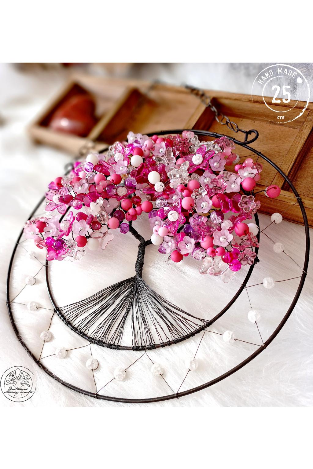 Strom života Přivolání lásky s růženínem 25cm