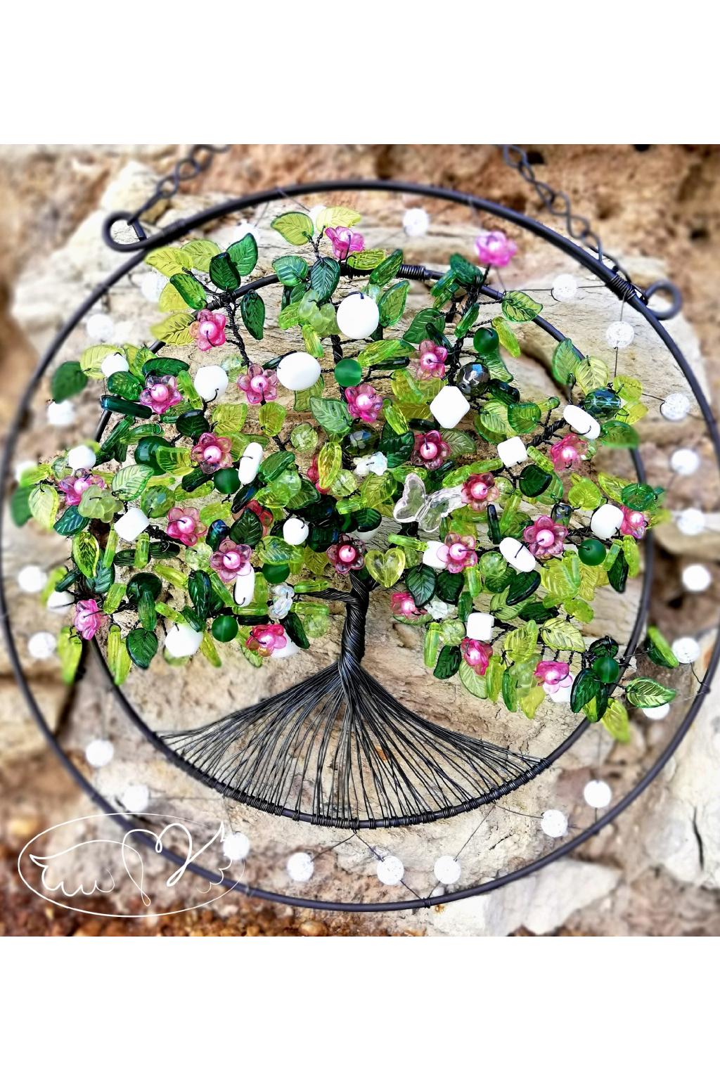 Drátovaný strom - Šípková Růženka 23,5cm