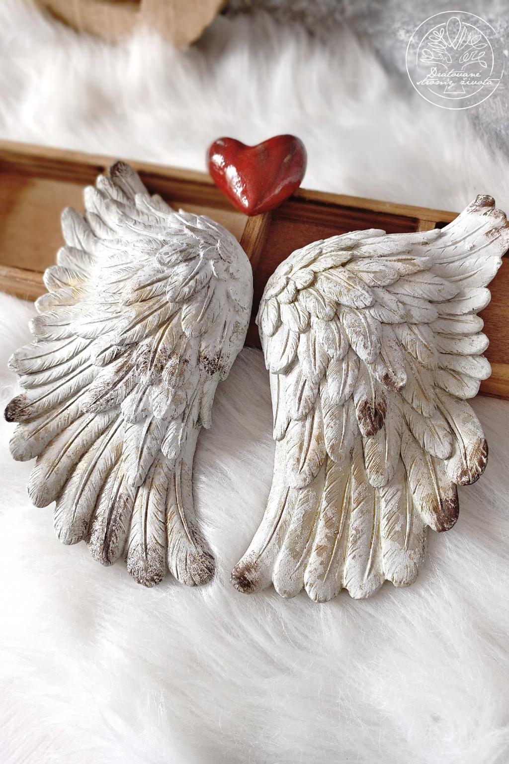 Andělská křídla pár - Čistá duše 27x27cm