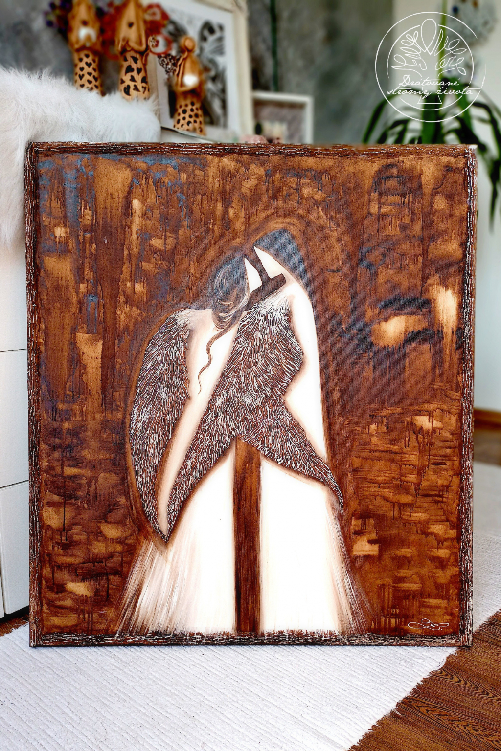 Obraz Anděl Anděl štěstí 80x90cm