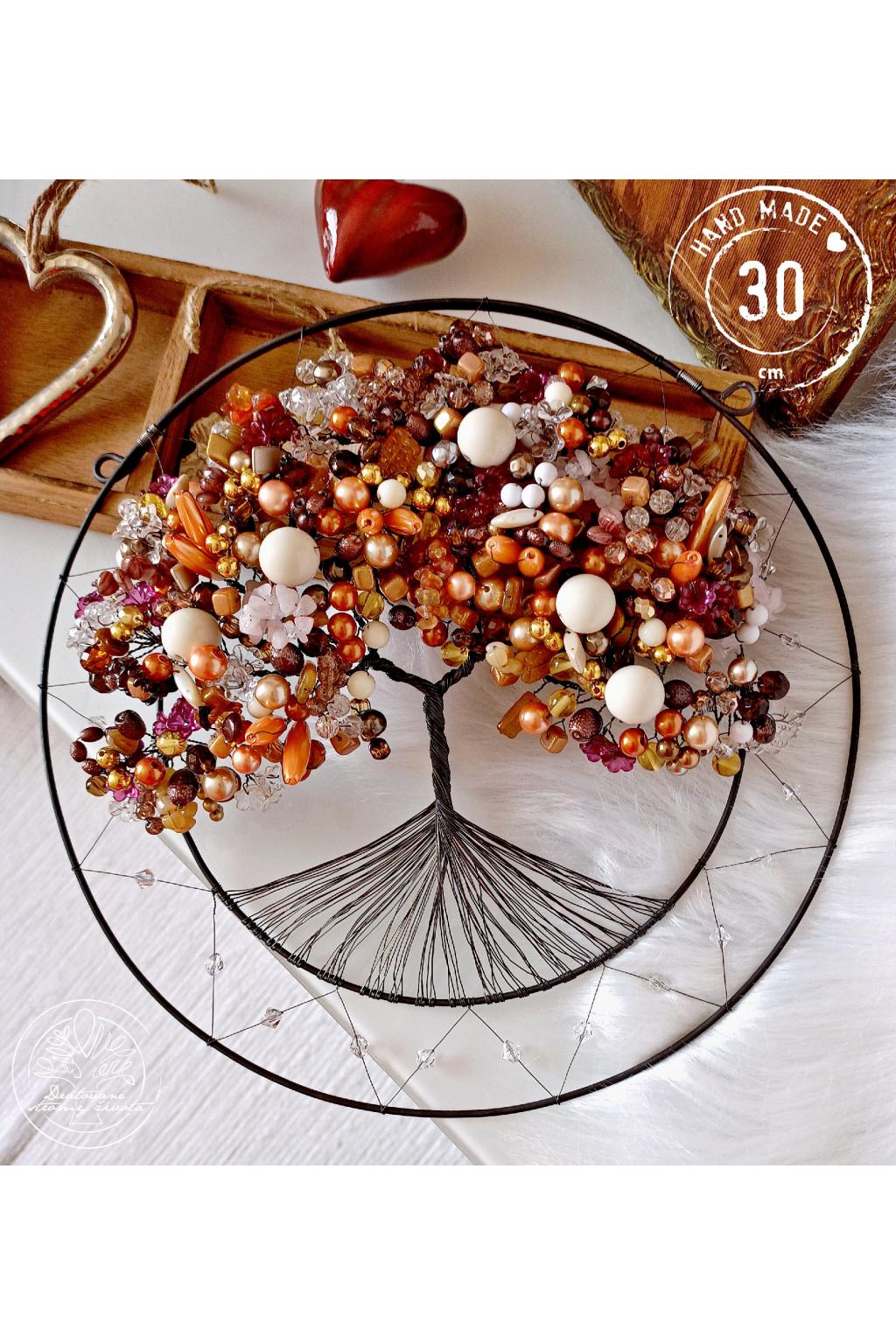 Drátovaný strom -Čokoládové pokušení 30cm