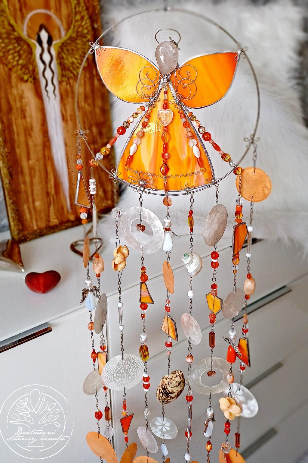Andělská zvonkohra Tiffany Radost a chuť do životaj 25x100cm