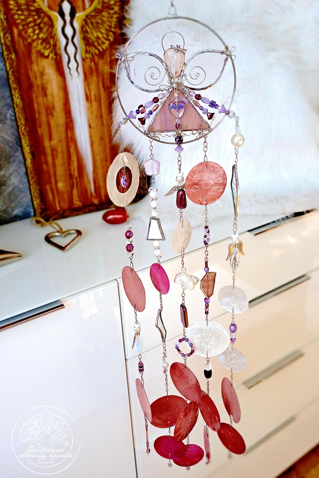 Andělská zvonkohra Tiffany Očistná moc 50cm