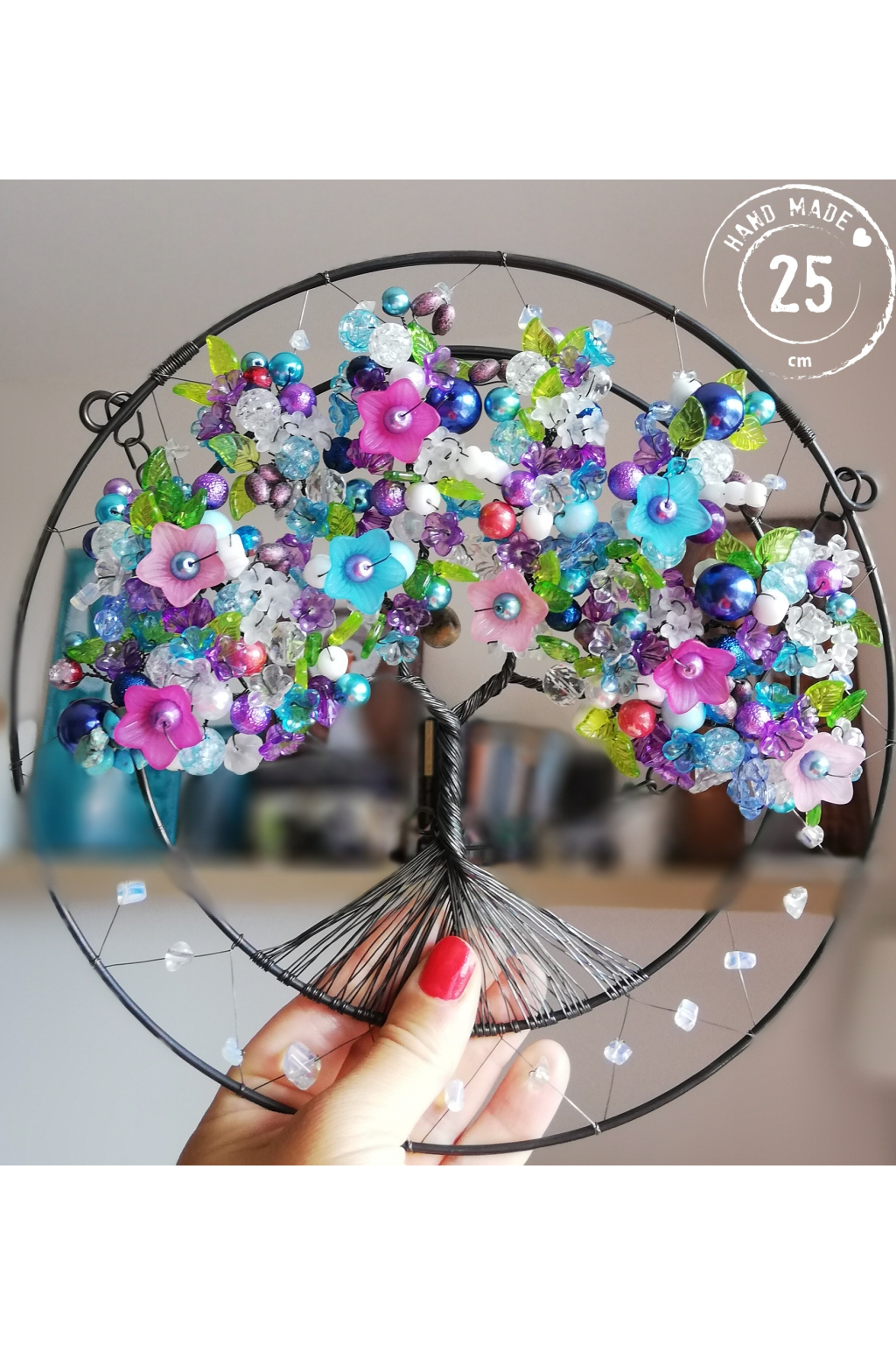Drátovaný strom - Dotek duše 25cm