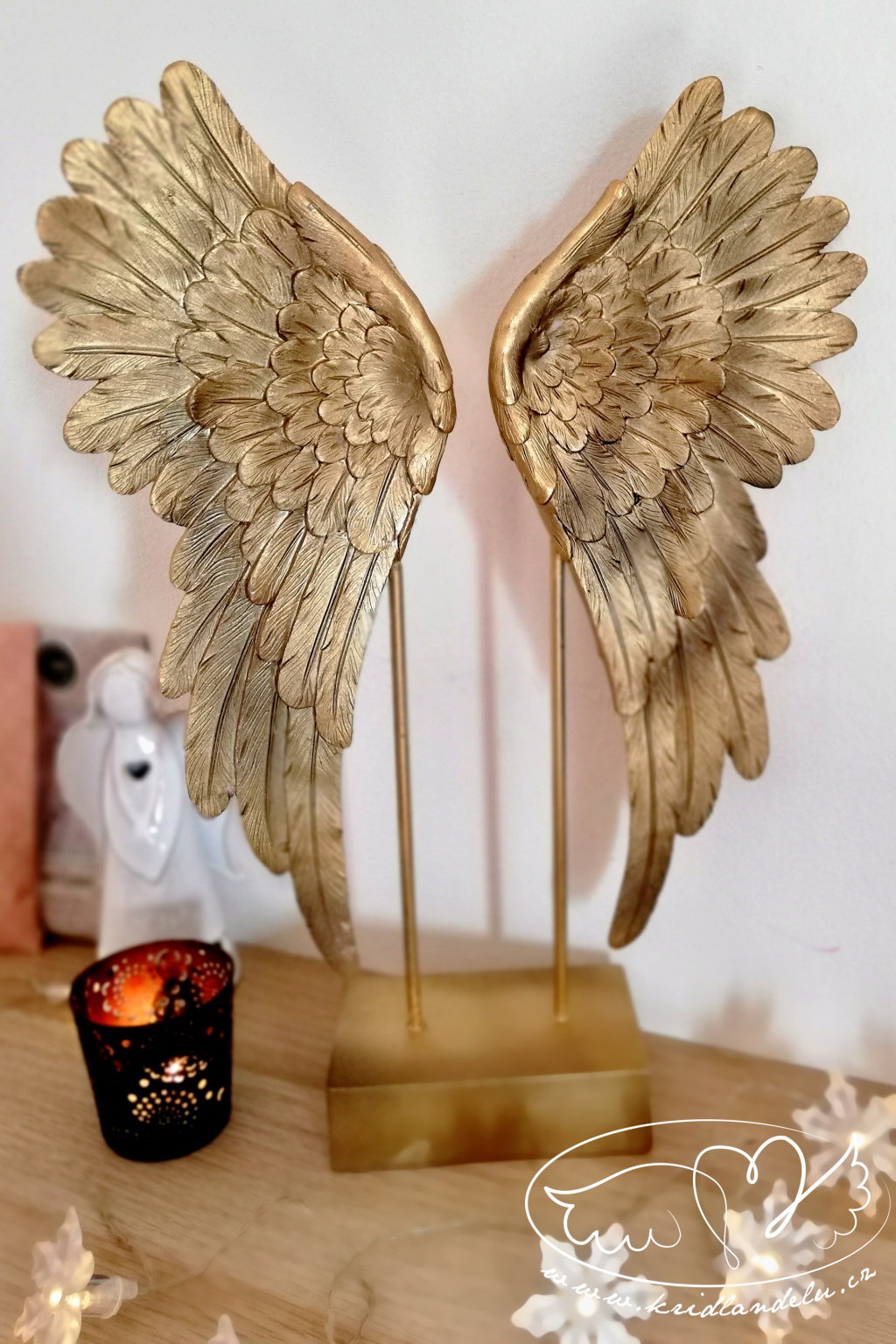 Andělská křídla  - Zlatá záře andělů 41cm
