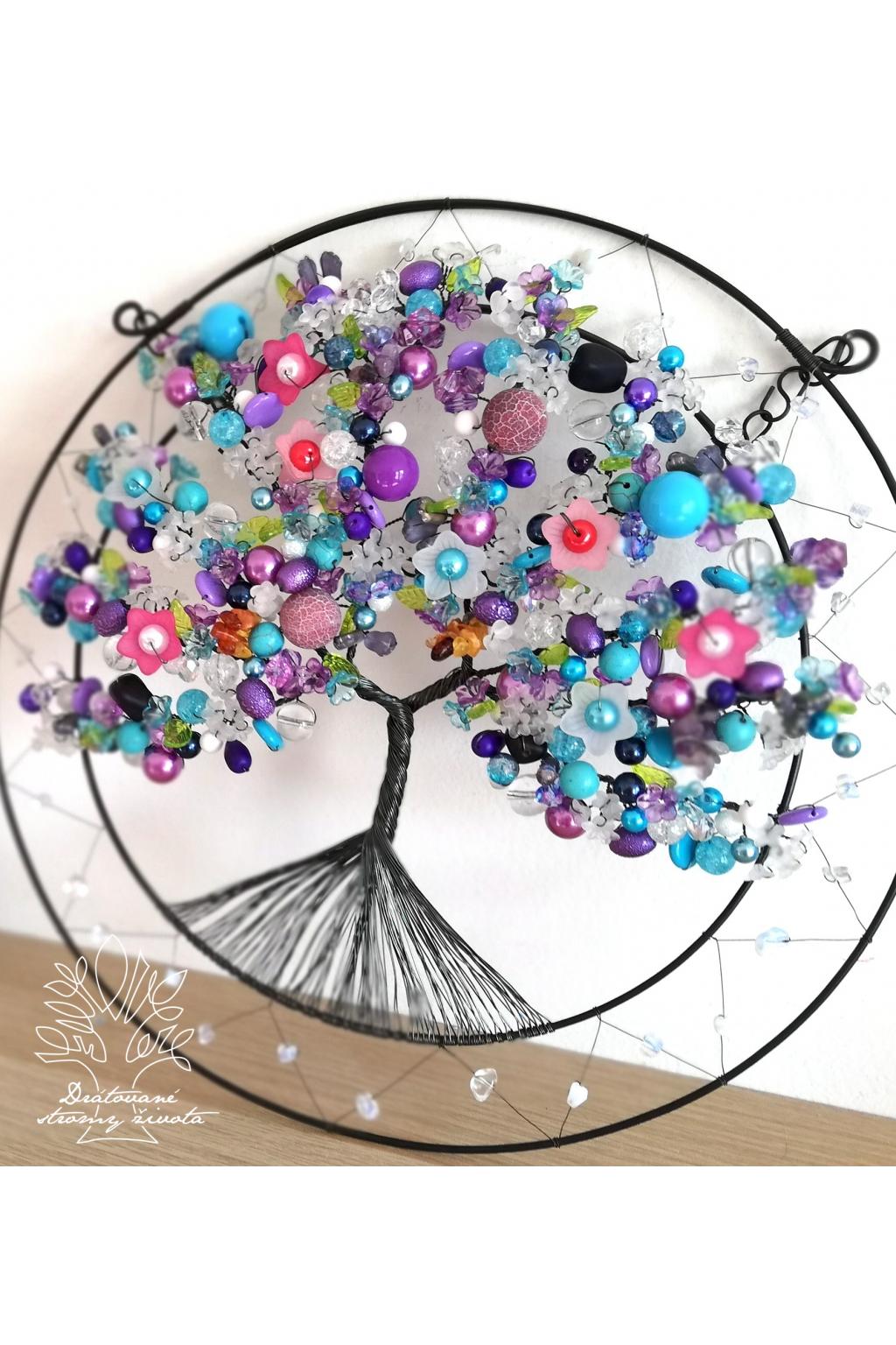 Drátovaný strom - Dotek duše 30cm