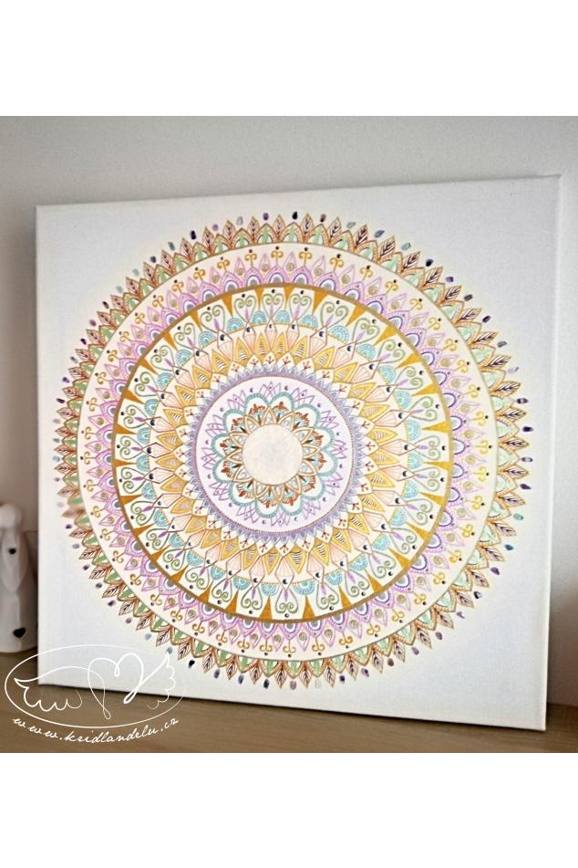 Obraz Mandala - Láska v srdci 50x50cm