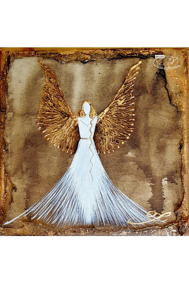 Obraz - Anděl hojnosti- Olej na plátně 30x60cm