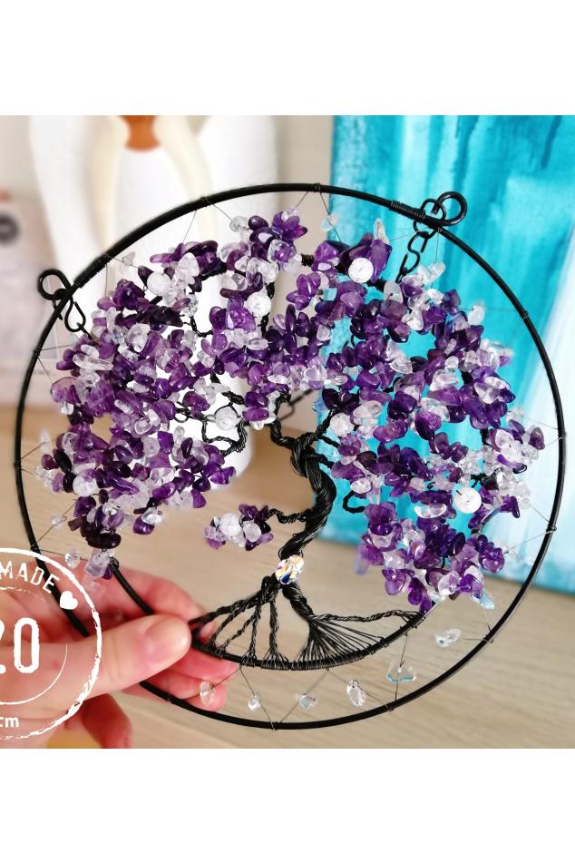 Drátovaný strom - Ametystový strom splněných přání 20cm