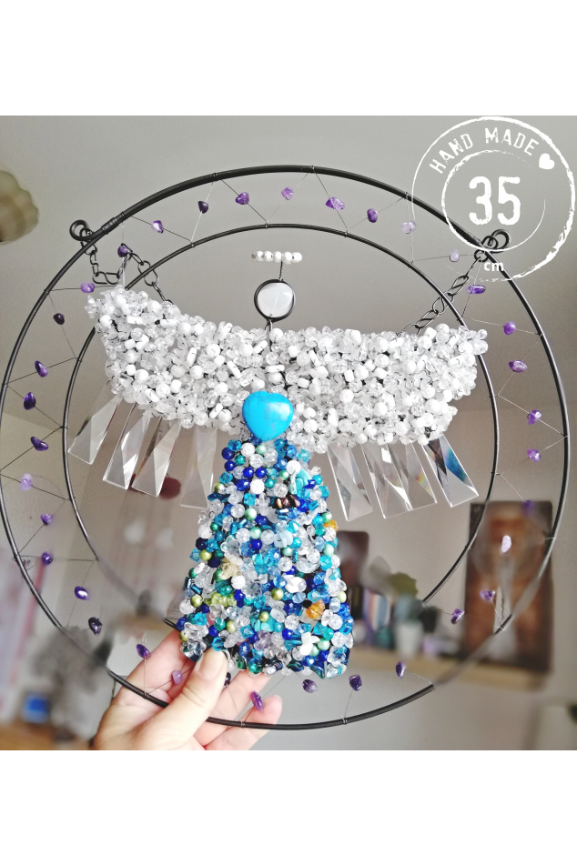 Drátovaný anděl - Ochrana a bezpečí 35cm