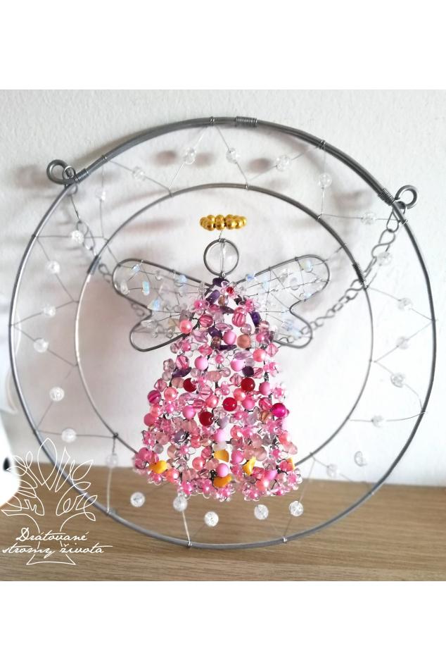 Drátovaný anděl - Laskavost a jemnost 25cm