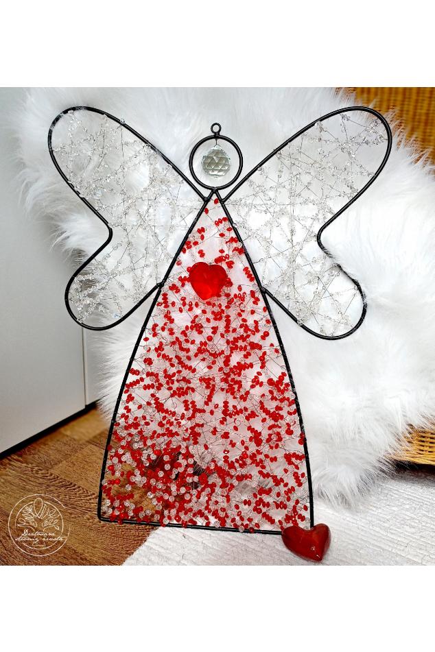Anděl drátěný Životabudič 65x60cm