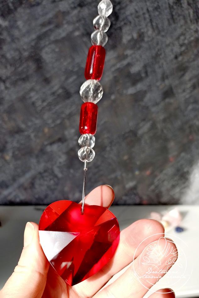 Světlohra Křišťálové srdce  - života budič 5cm/50cm