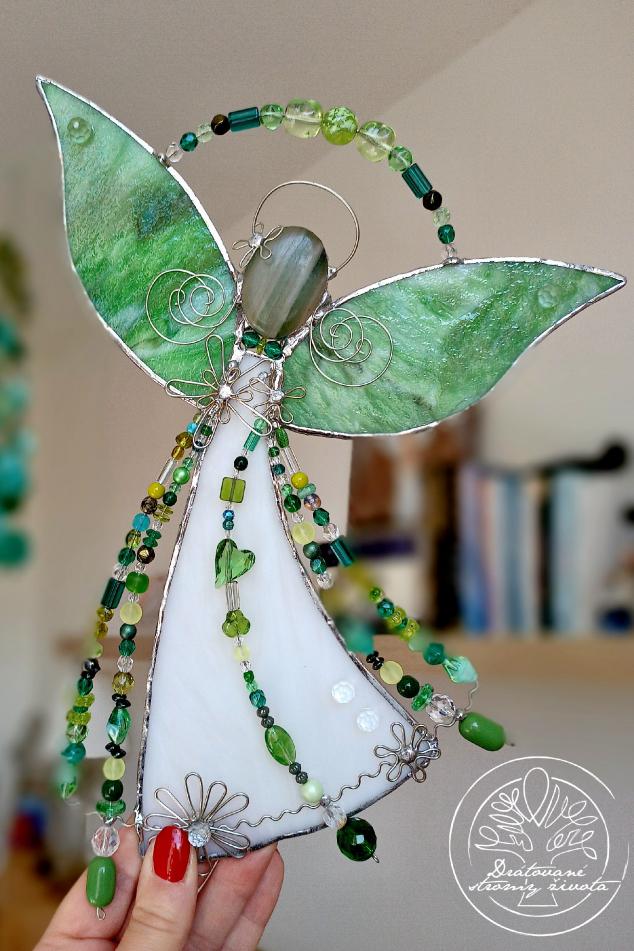 Andělská vitráž - Vyléčím tvé nitro s avanturínem 25cm