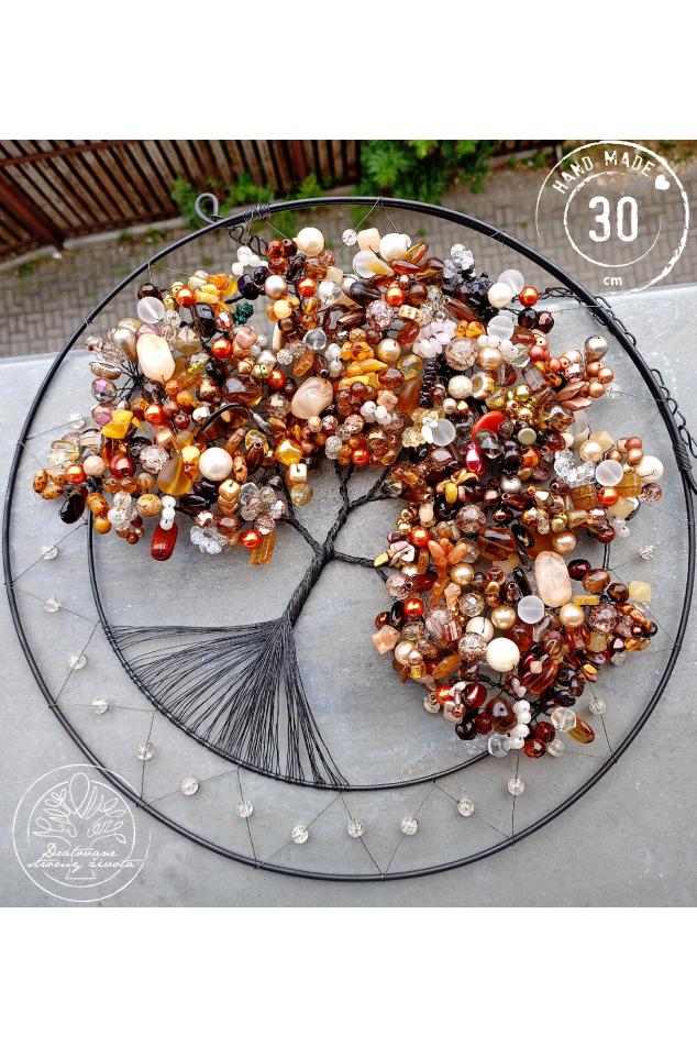 Drátovaný strom -Jantarové uzdravení 30cm