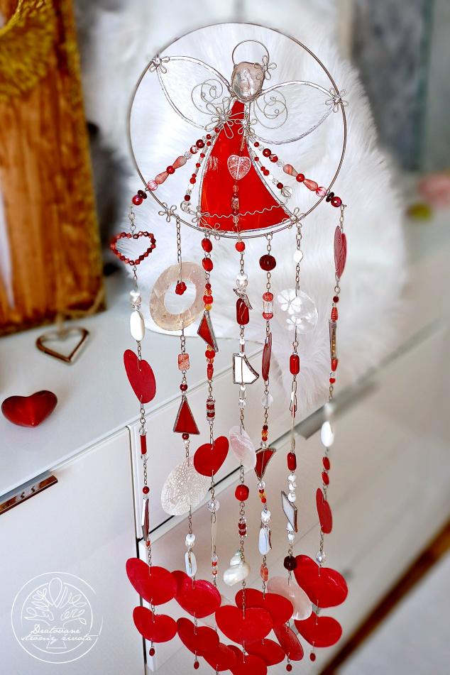 Andělská zvonkohra Tiffany Života budič 20x57cm