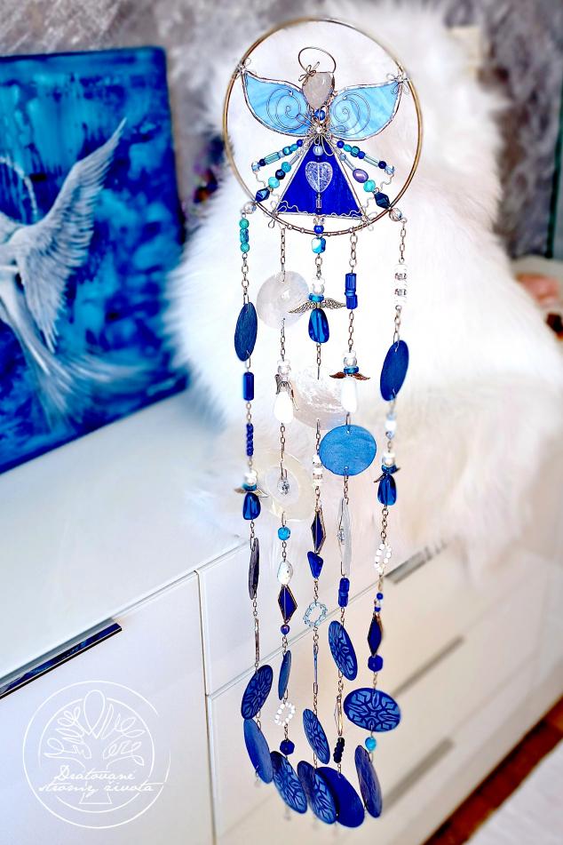 Andělská zvonkohra Tiffany Nepotlačuj své Emoce 15x80cm