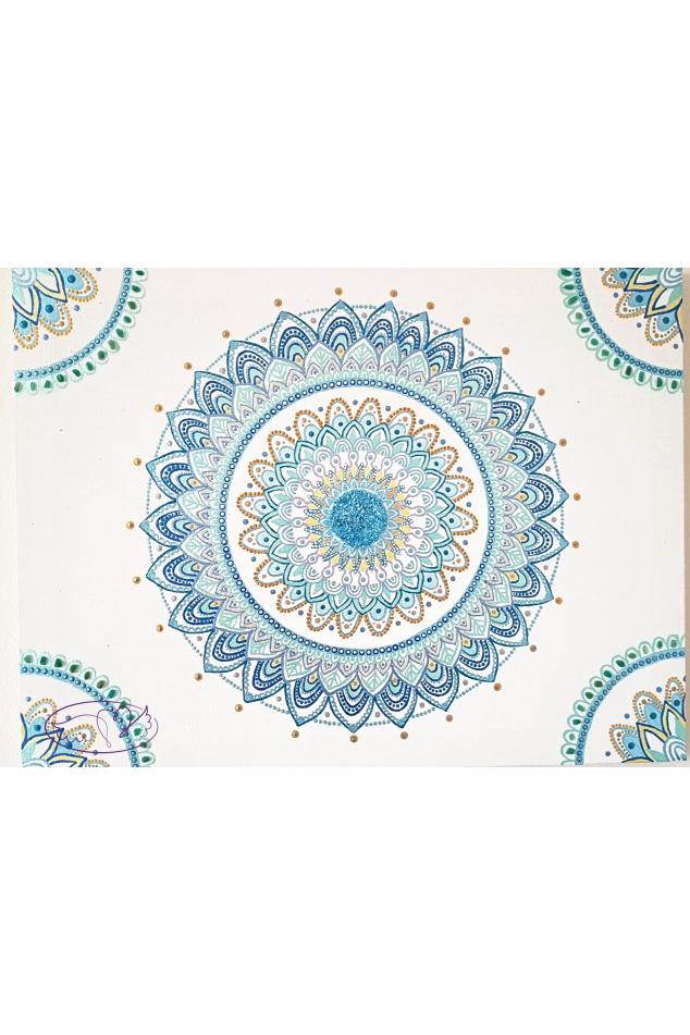 Mandala - Láska v harmonii 30x40cm52594391 444911889417362 2649372871712833536 o