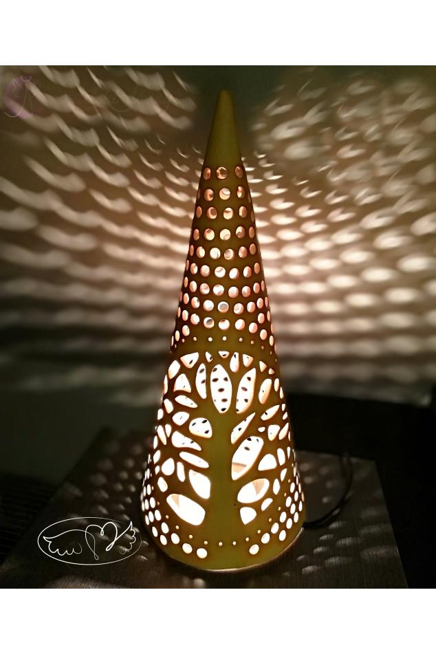 Keramická lucerna Velký kužel 50cm