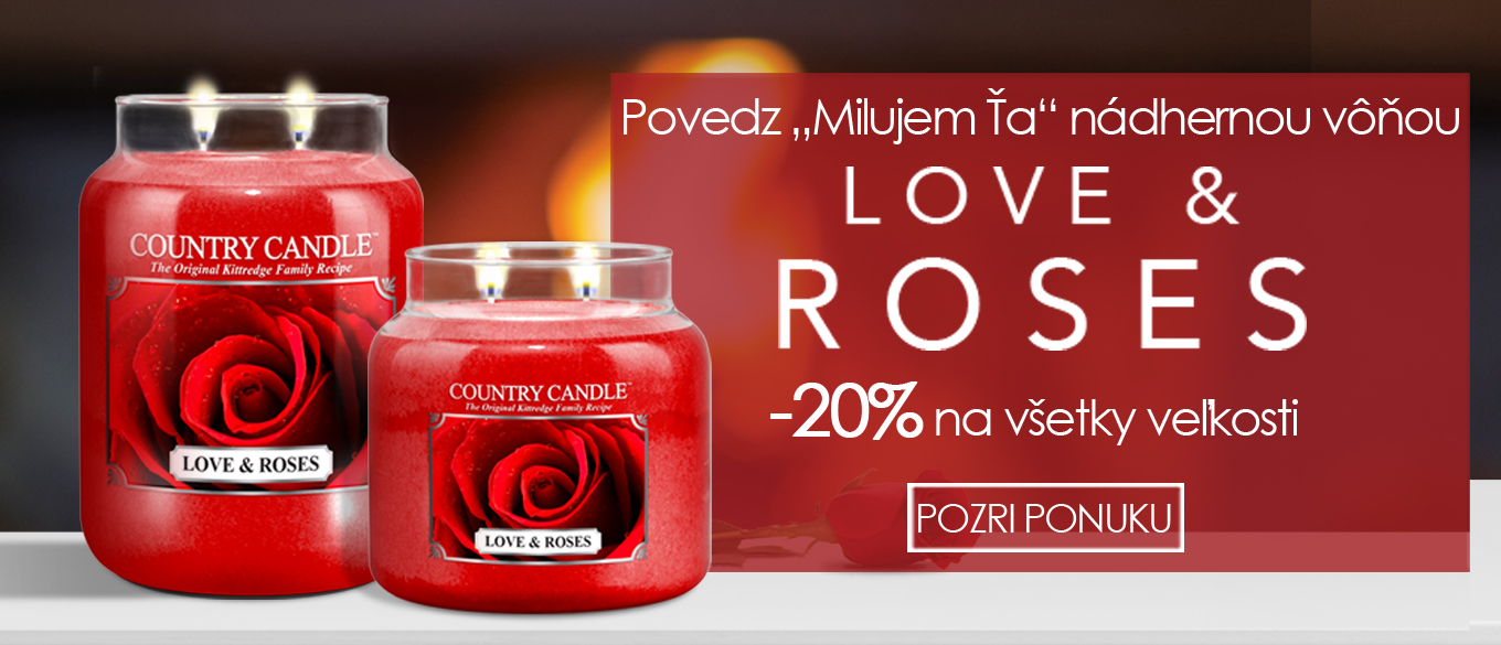 country candle love and roses